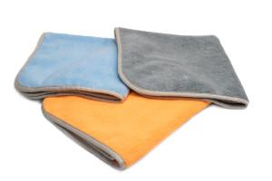 Premium 70/30 Microfiber Towel with MicroEdge Banding - 350gsm - 16''x16''