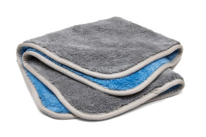 Extra Fluffy Microfiber Rinseless / Waterless Wash Cloth & Polishing Towel with MicroEdge Banding  (16 in. x 16 in.)