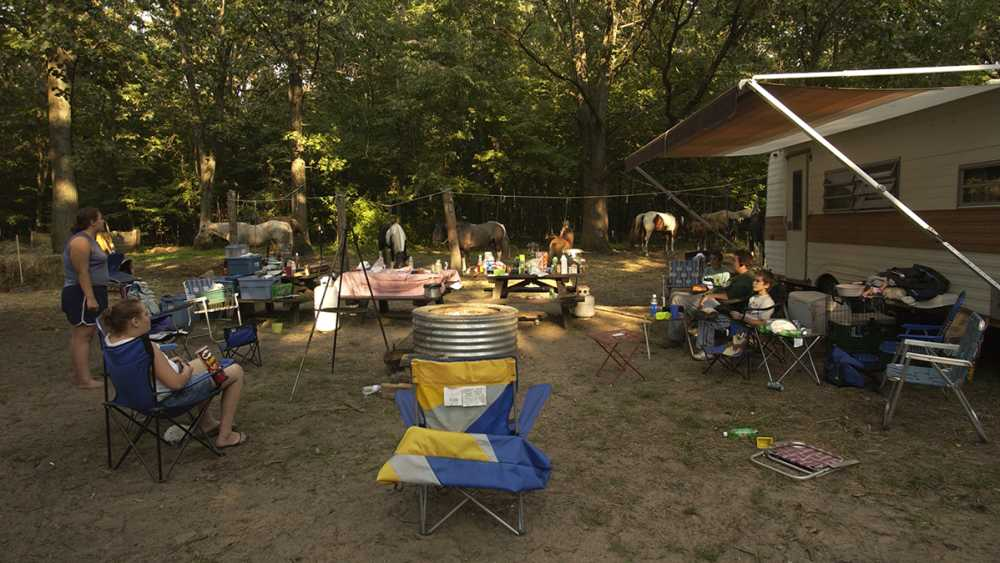 Horse camp at Yankee Springs Recreation Area