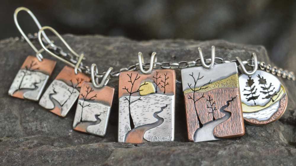 Locally inspired landscape pendants