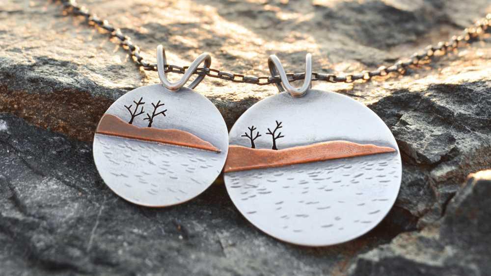 Presque Isle and Little Presque Isle pendants