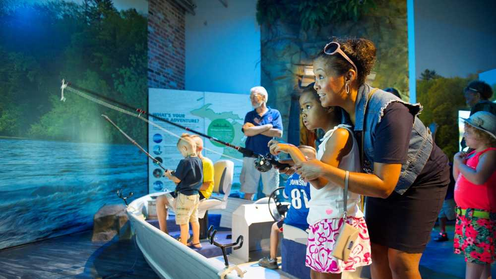 Outdoor Adventure Center fishing simulator