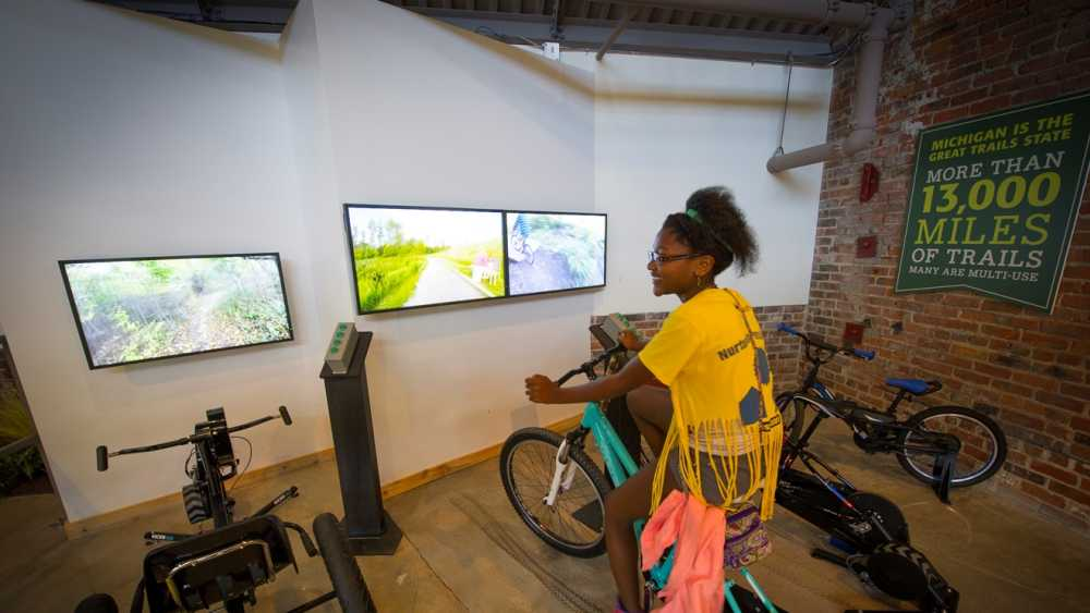 Outdoor Adventure Center biking simulator