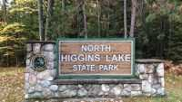 DNR, North Higgins Lake State park, Sign, Fall
