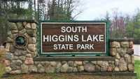 South Higgins Lake State Park entrance sign