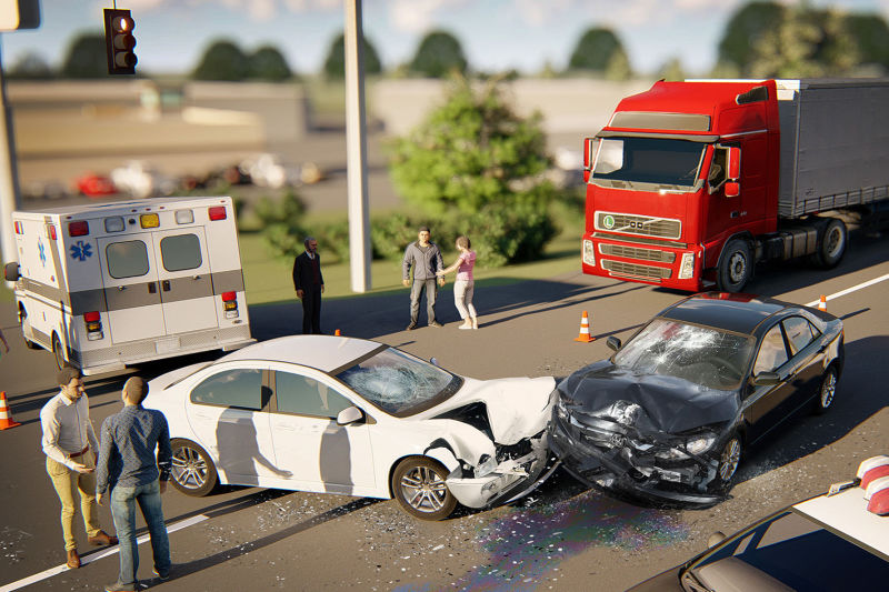 Shopping Center Collision - Photo