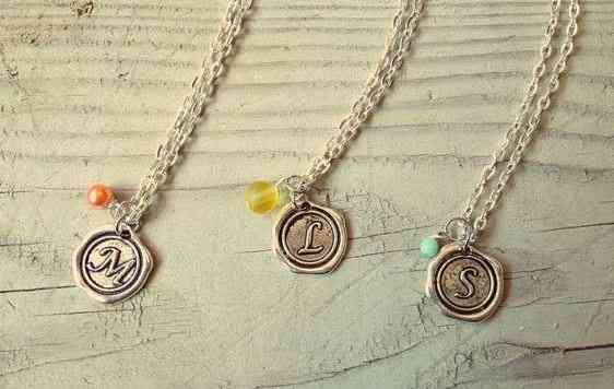 Monogram Wax Seal Necklaces by Nicole Marshall | The Mindful Shopper