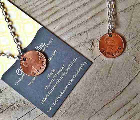 My Lucky Penny Personalized Necklace by Nicole Marshall | The Mindful Shopper