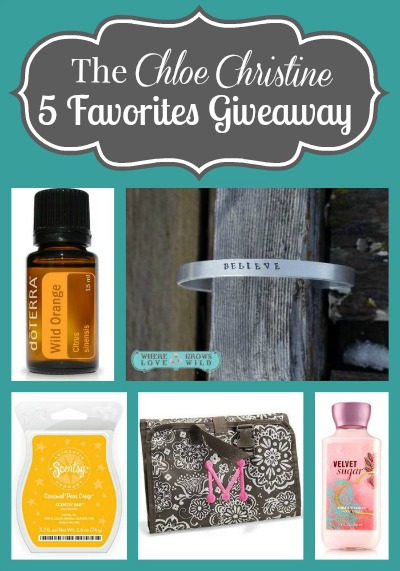 Chloe Christine Five Favorites Giveaway | The Mindful Shopper