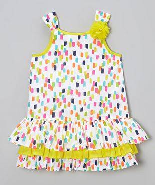 Neon Yellow Confetti Swing Dress | Darling Spring and Easter Dresses | The Mindful Shopper