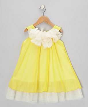 Yellow Flower Chiffon Swing Dress | Darling Spring and Easter Dresses | The Mindful Shopper