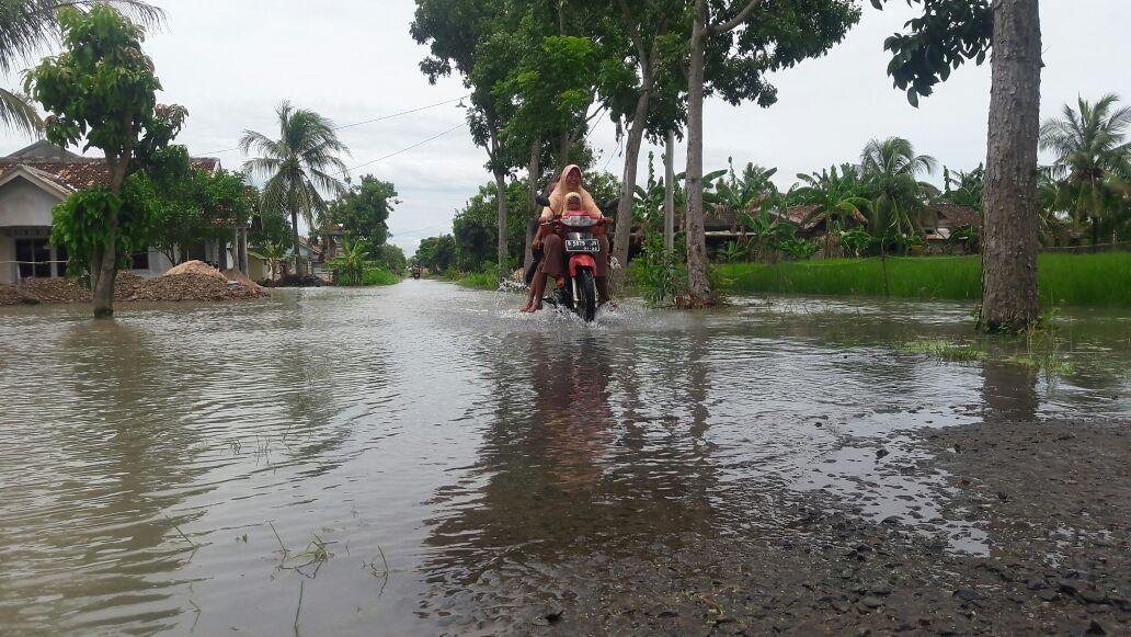 Kondisi Dusun Solo yang tergenang banjir.