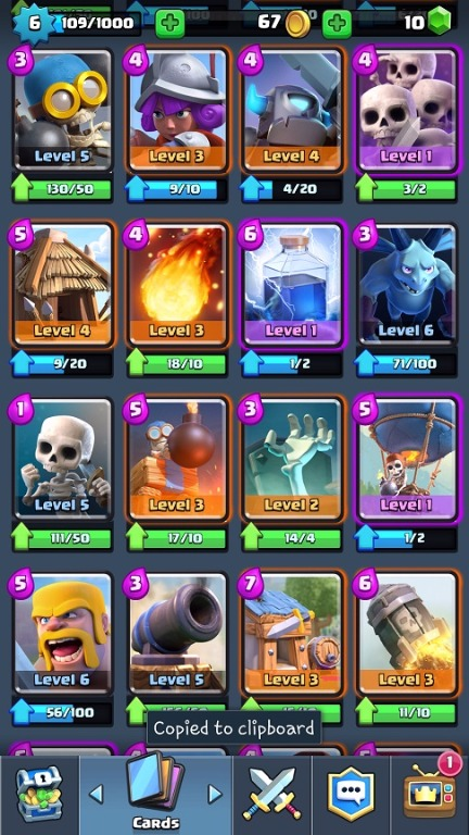 Selling TH11 Town Hall 11 Level 130 + Level 6 Clash Royale Account