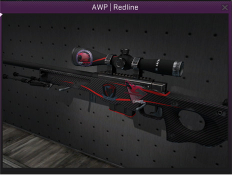 selling awp redline field tested with really nice stickers for 8 60