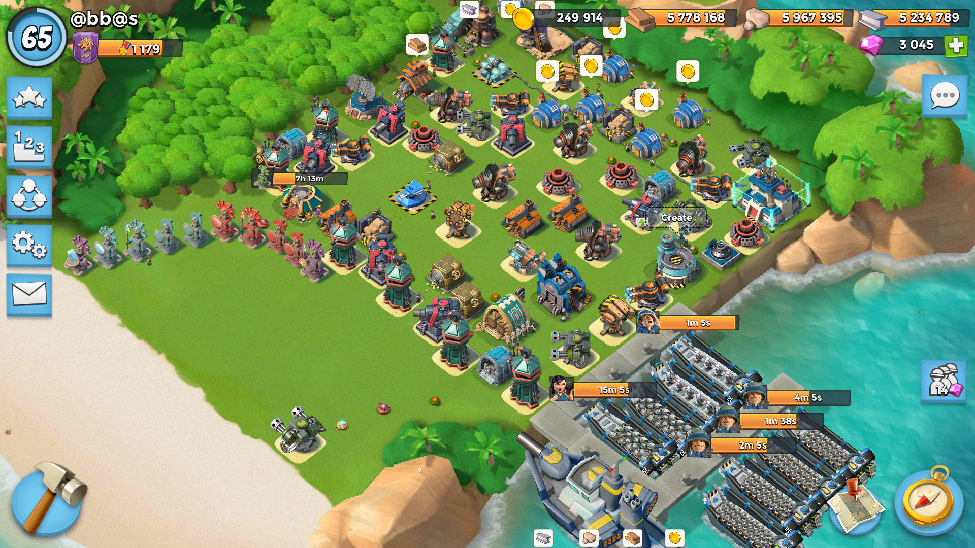 boom beach max troops