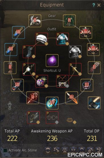 Selling high end na 59 5 222 236 231 full boss gear witch for Canape outfit bdo