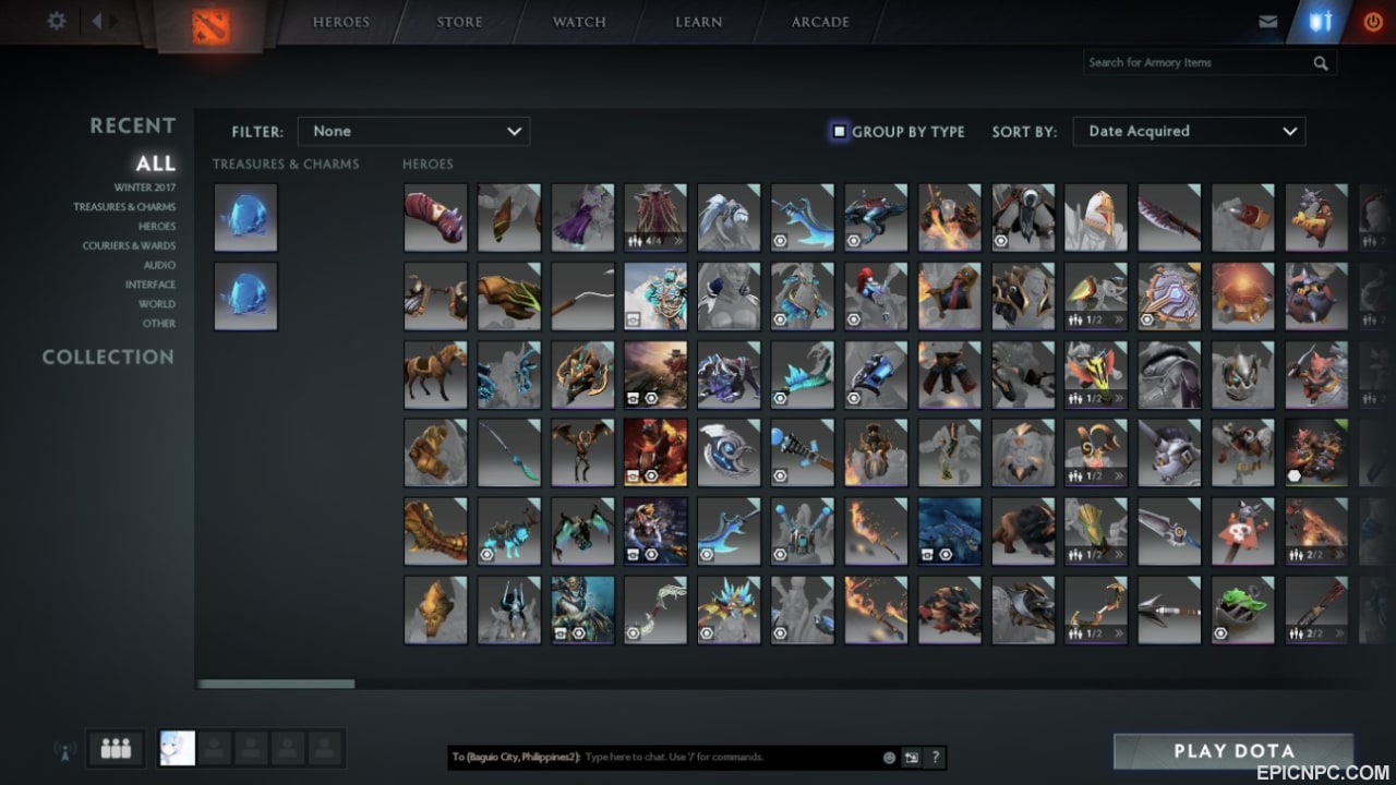 selling dota 2 account with lots of items