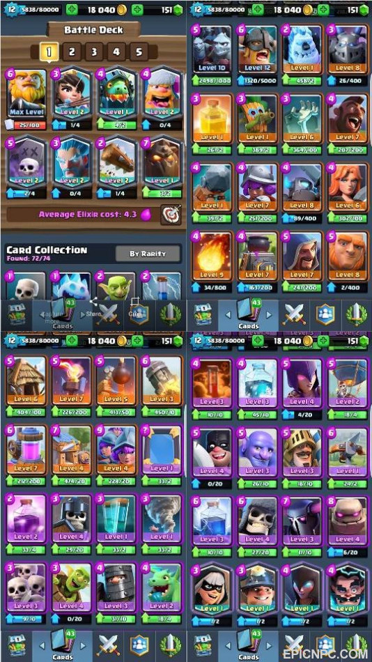 how to change the clash royale account on an ipod