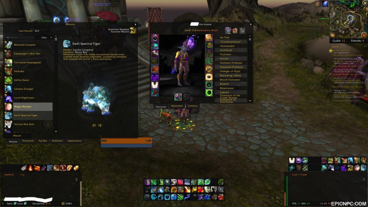selling multi characters a long wow career ending skype for more info