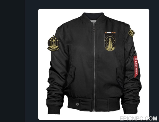 selling store selling code for last wish raid exclusive jacket from