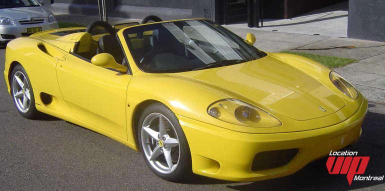 FERRARI 360 SPIDER  jaune