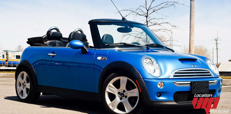 location vip montr al mini cooper convertible 2007 aux meilleurs prix. Black Bedroom Furniture Sets. Home Design Ideas