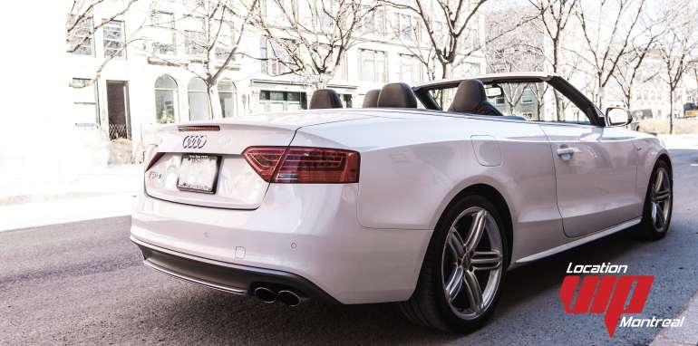 Audi S5 Convertible  blanc