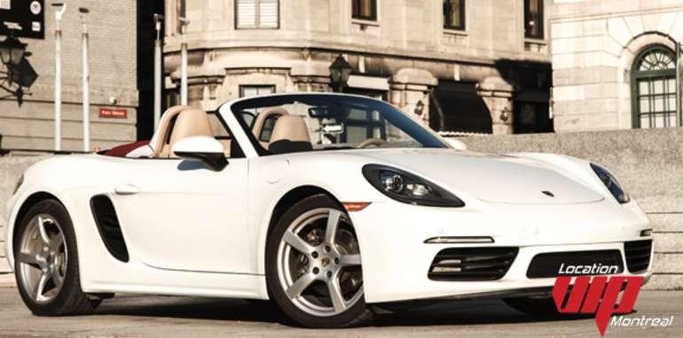 Porsche 718 Boxster 2017 blanc
