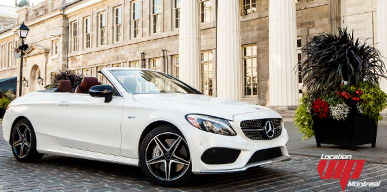 Mercedes C43 AMG Convertible 2018 blanc