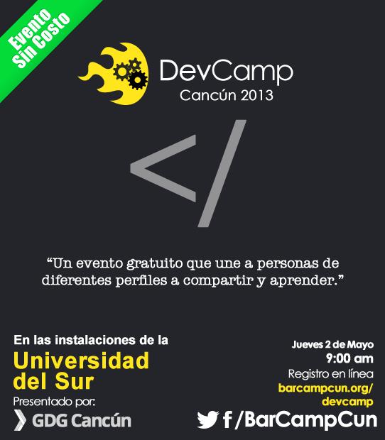 2da edición del BarCamp en la ciudad de Cancún.