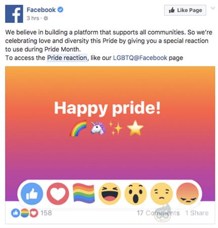 facebook pride emoji kullanma facebook lgbt emoji