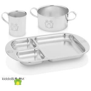 Award-Winning Children's book — Kiddobloom Children Stainless Steel Dinnerware