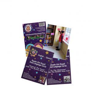 Award-Winning Children's book — Button Nose Kidz Ready-Set-Read! Dual Language Cardz