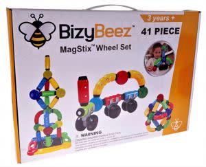 Award-Winning Children's book — BizyBeez MagStix Wheel Set - 41 Piece