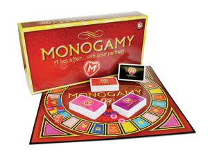 Award-Winning Children's book — Monogamy A Hot Affair...With Your Partner! Adult Board Game