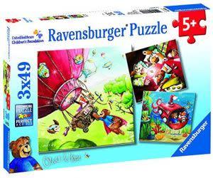 Award-Winning Children's book — Ravensburger UnitedHealthcare Children's Foundation: Oliver & Hope's (3 x 49-Piece) Puzzles in a Box