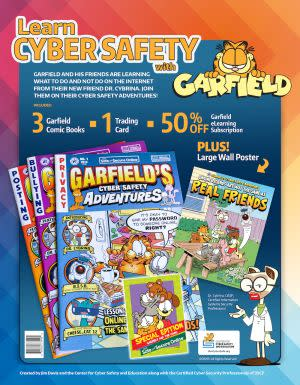 Award-Winning Children's book — Garfield's Cyber Safety Adventures Comic Book Bundle