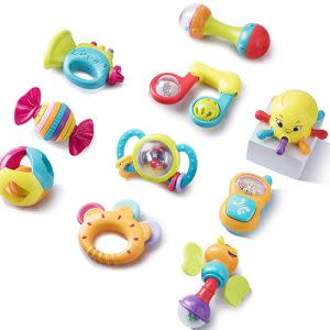 Award-Winning Children's book — 10 Piece Baby Rattles & Teethers