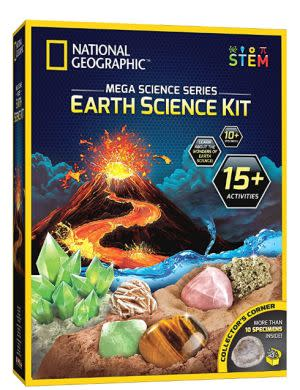 Award-Winning Children's book — The National Geographic Mega Science Series Earth Science Kit
