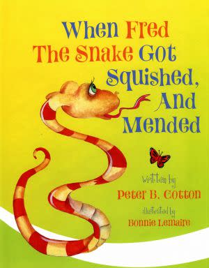 Award-Winning Children's book — When Fred the Snake got Squished and Mended