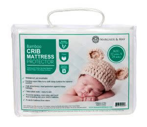 Award-Winning Children's book — Ultra Soft Crib Mattress Protector by Margaux & May - Waterproof - Noiseless - Dryer Friendly - Deluxe Bamboo Rayon - Fitted