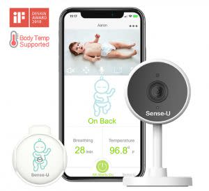Award-Winning Children's book — Sense-U Video+Breathing Baby Monitor with 1080P HD Camera, WiFi, 2-Way Audio, Night Vision, Movement & Temperature Sensor