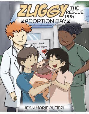 Award-Winning Children's book — Zuggy the Rescue Pug - Adoption Day