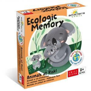 Award-Winning Children's book — Animals at Risk--Ecologic Memory Game