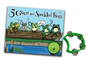 Award-Winning Children's book — 5 Green and Speckled Frogs