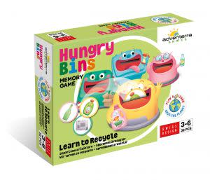 Award-Winning Children's book — Hungry Bins: Learn to Recycle--Memory Game