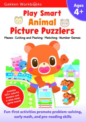 Award-Winning Children's book — Play Smart Animal Picture Puzzlers 4+
