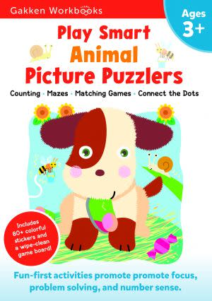 Award-Winning Children's book — Play Smart Animal Picture Puzzlers 3+