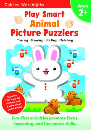 Award-Winning Children's book — Play Smart Animal Picture Puzzlers 2+