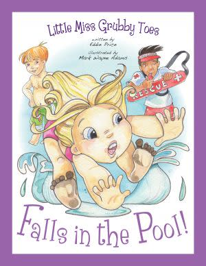 Award-Winning Children's book — Little Miss Grubby Toes Falls in the Pool!